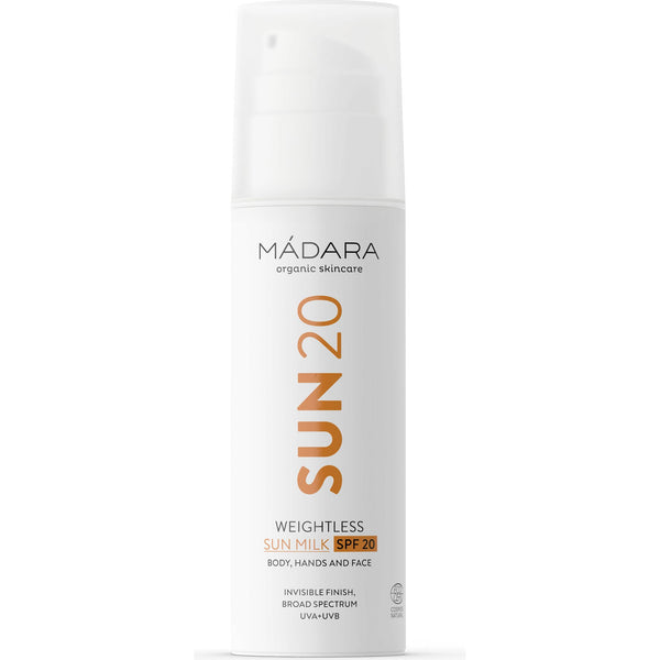 Sun20 Weightless Sun Milk Spf 20 Madara Solari Corpo