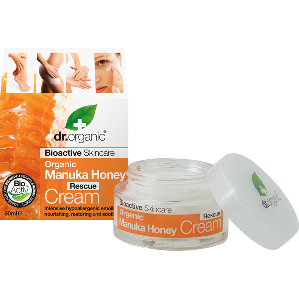 Honey Rescue Cream Organic per Viso, Occhi  Manuka Dr. Organic