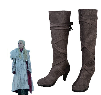 Daenerys Targaryen Boots from Her Winter Outfit, Game of Thrones 8