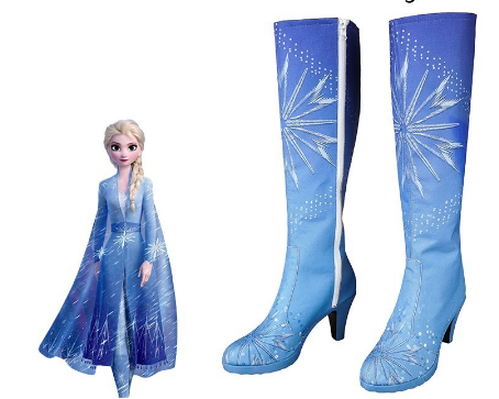 Queen Elsa Blue Boots, Frozen 2