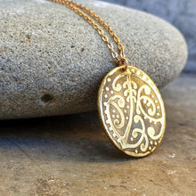 Kowhaiwhai Etched Round Necklace - Sonia Therese