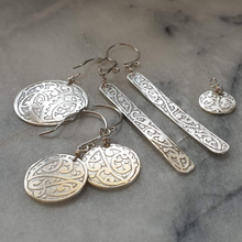 Kowhaiwhai Etched Round Earrings - Sonia Therese