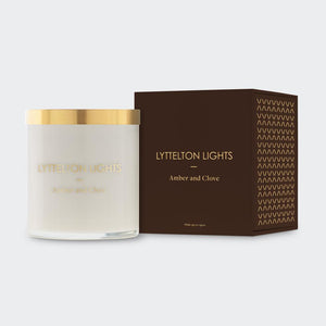 Lyttelton Lights - Amber and Glove Scented Candle