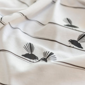 Plum Billy - Organic Baby Blankets - Bird on a Wire