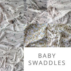 Plum Billy - Baby Swaddles - Bird on a Wire
