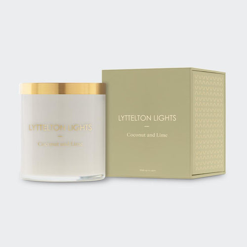 Lyttelton Lights -  Coconut and Lime Scented Candle