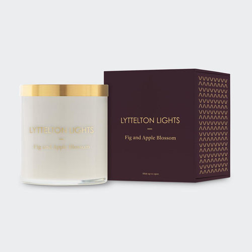 Lyttelton Lights -   Fig and Apple Blossom Scented Candle