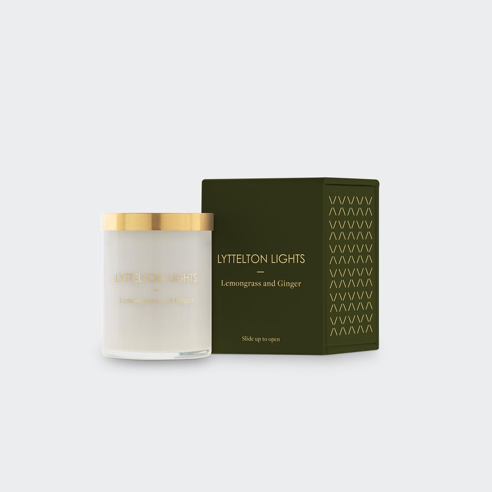 Lyttelton Lights -  Lemongrass and Ginger Scented Candle