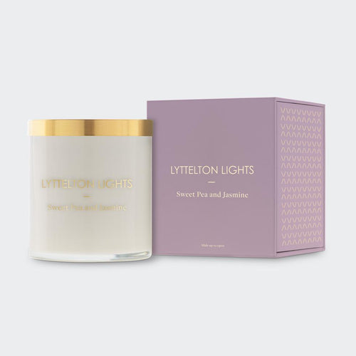 Lyttelton Lights - Sweet Pea and Jasmine Scented Candle
