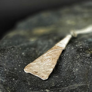 Journey Silver Hammered Toki Necklace - Sonia Therese