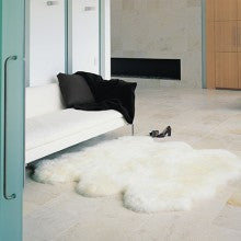 Natural Longwool Sheepskin Rugs - Six Piece