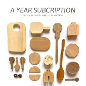 Mel's Carving Club: 12 Month Subscription Carving Blank Box