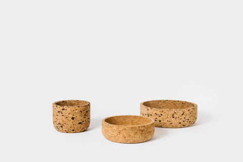 Large Speckled Cork Bowl
