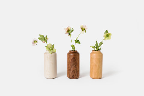 Tall & Wide Wooden Vase