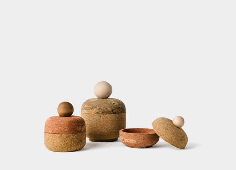 Cork Bolo Canisters