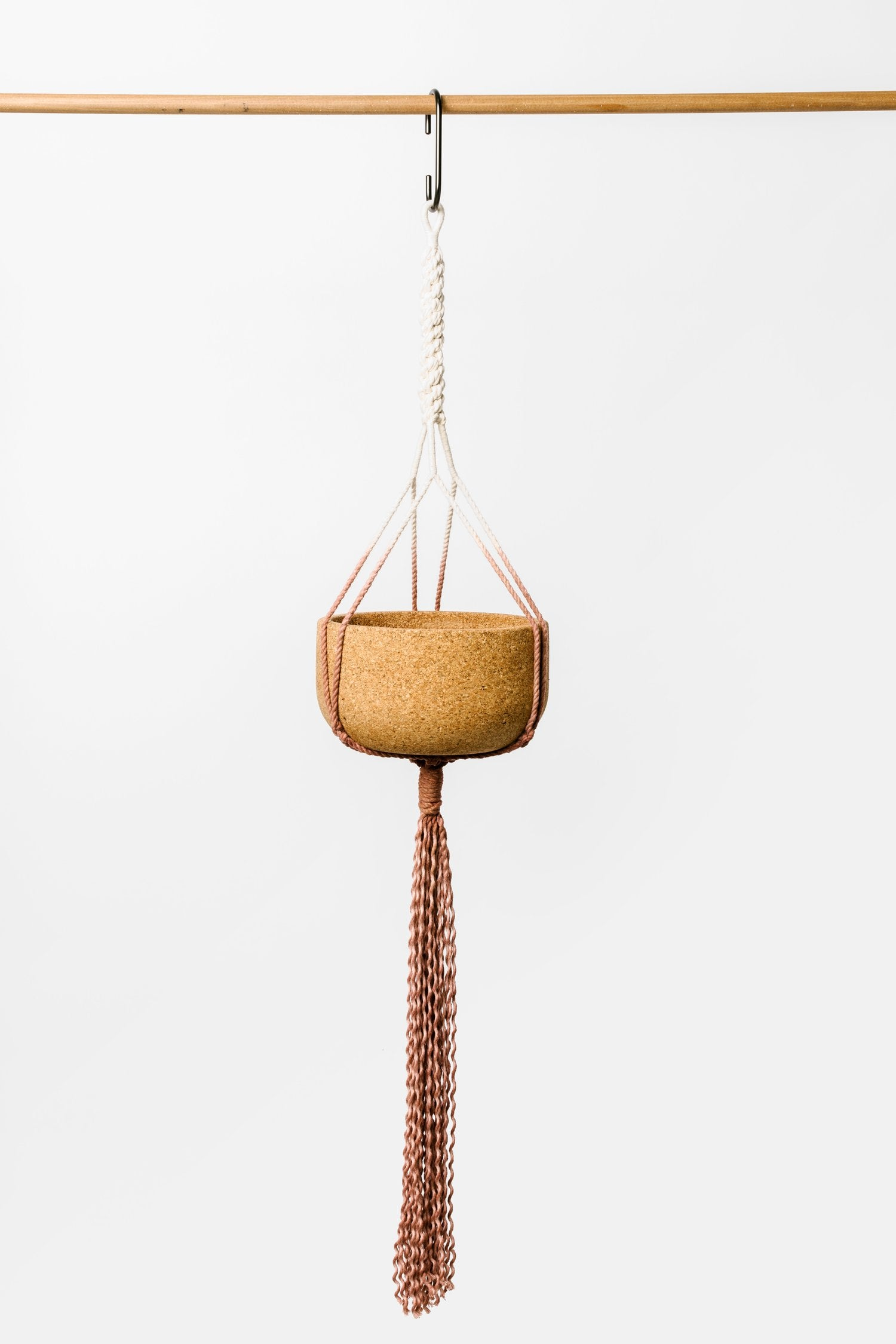 Ombre Macrame Hanging Cork Planter Limited Edition Collab with S. Kim
