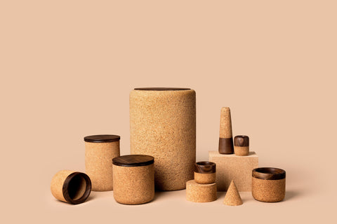 Cork + Walnut Canister
