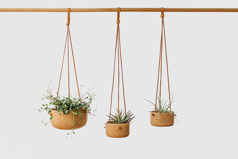 Natural Cork Hanging Planters
