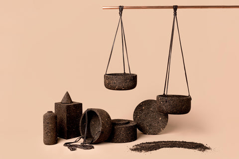 Charcoal Cork Hanging Planter
