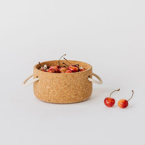 Cork Bowl with Handles