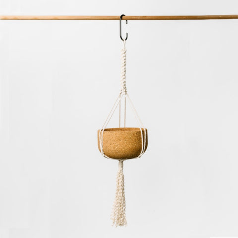 Macrame Hanging Cork Planter Limited Edition Collab with S. Kim