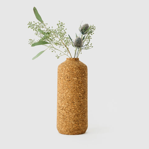 Tall Natural Cork Vase
