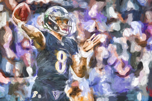 Lamar Jackson in the Pocket - majorleaguecreative.com