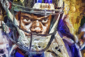"*20x30* Lamar Jackson: The Look * 1.5"" Gallery-wrapped Canvas - majorleaguecreative.com"