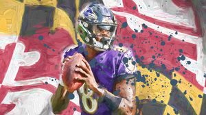 "Lamar Jackson Flag Limited Edition ""*30x40* (only 75 released) - majorleaguecreative.com"