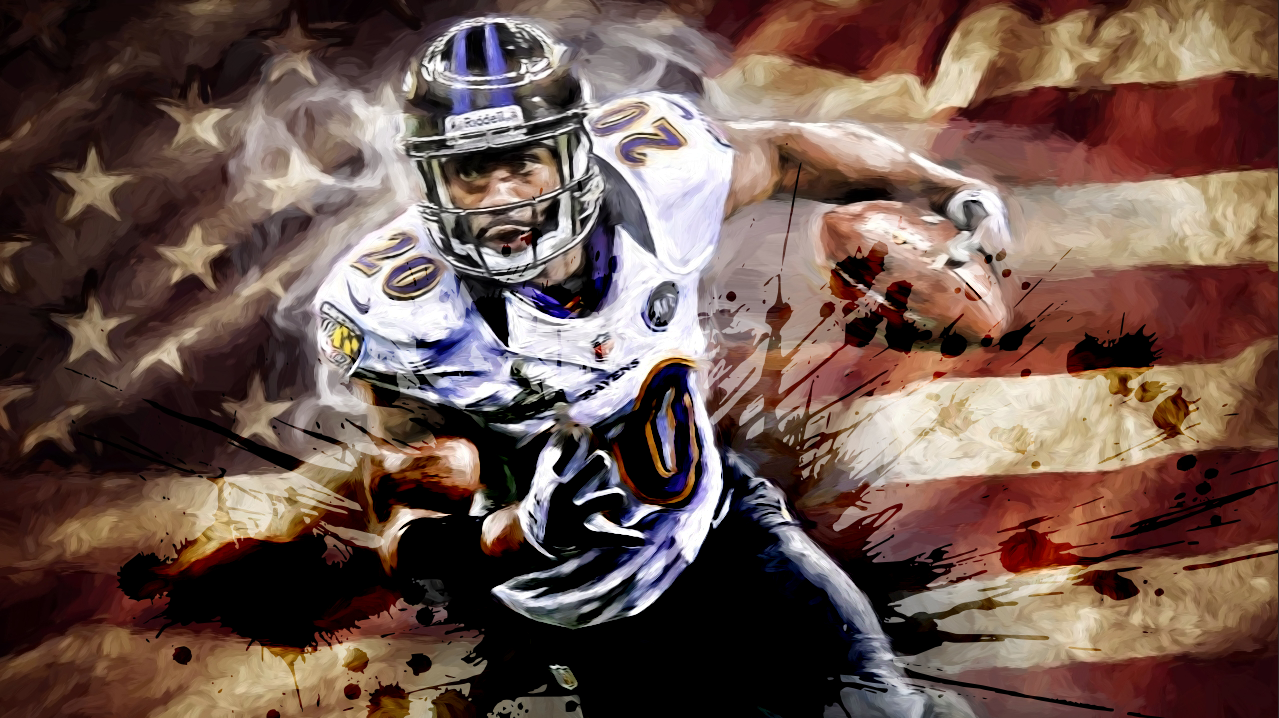*30x40* Ed Reed: The Ballhawk * LIMITED EDITION * (only 75 released) * 1.5