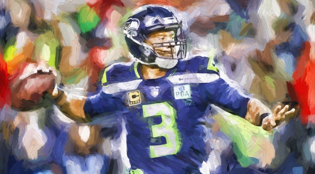 *30x40* Russell Wilson * LIMITED EDITION * (only 75 released) * 1.5