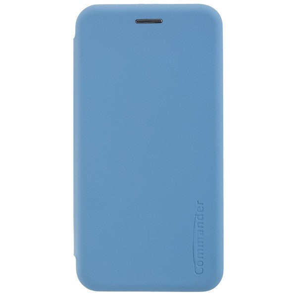 COMMANDER Book Case CURVE für Huawei Y6 2019 - Soft Touch - Light Blue