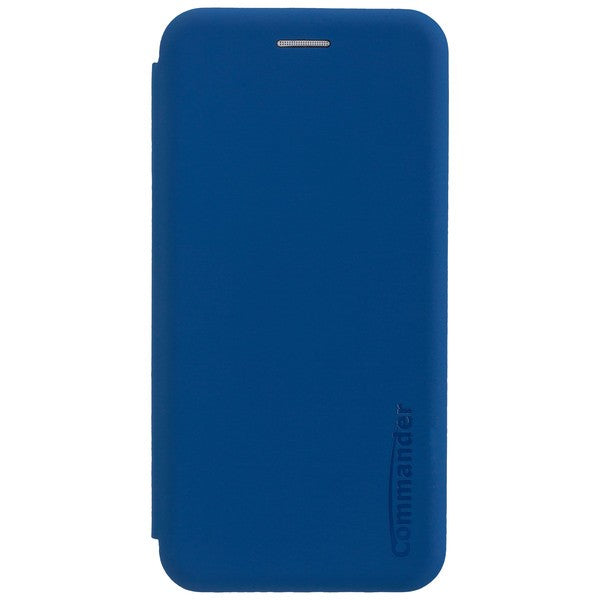 COMMANDER Book Case CURVE für Huawei P20 Lite - Soft Touch - Maritim Blue