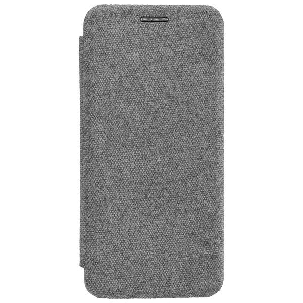 COMMANDER Book Case CURVE für Samsung Galaxy A71 - Suit Elegant Gray