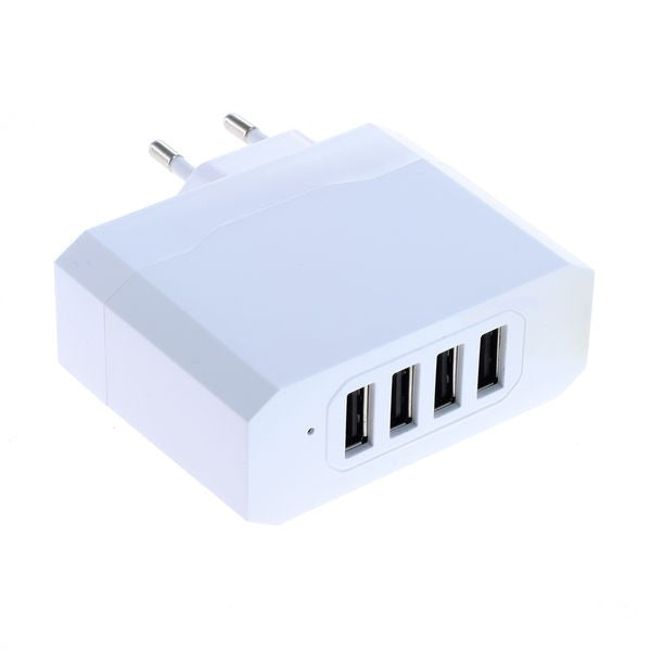 Ladeadapter USB - 4,8A 4-Port Multiadapter mit Auto-ID - weiß