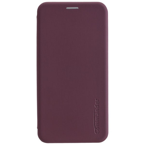 COMMANDER Tasche Book Case CURVE für Samsung Galaxy A21 - Soft Touch - Bordeaux