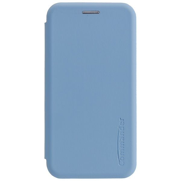COMMANDER Book Case CURVE für Apple iPhone 11 Pro - Soft Touch - Light Blue