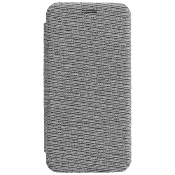 COMMANDER Tasche Book Case CURVE für Samsung Galaxy A21 - Suit Elegant Gray
