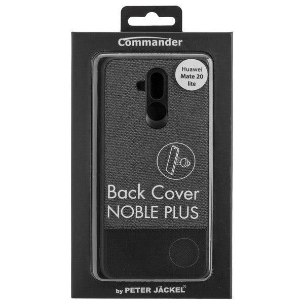 COMMANDER Back Cover NOBLE PLUS für Huawei Mate 20 Lite - Black & Black