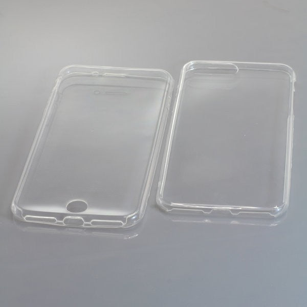TPU Case kompatibel zu Apple iPhone 7 Plus / iPhone 8 Plus - front/back - transparent