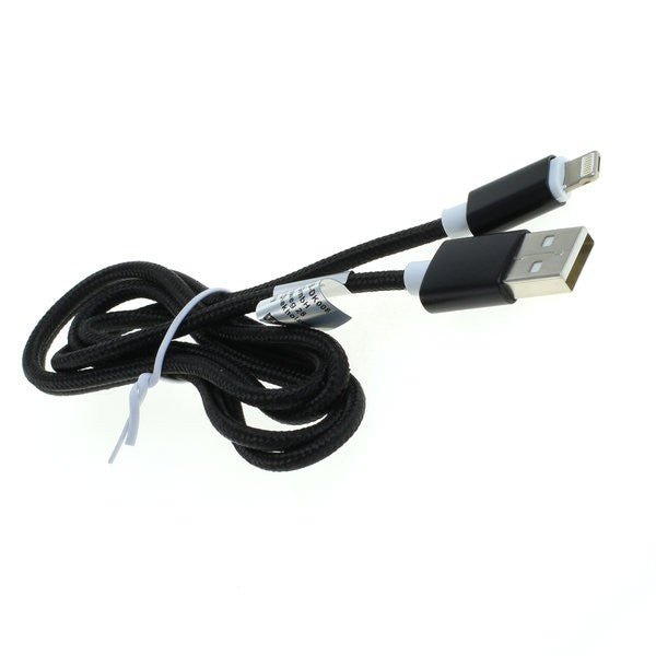 Datenkabel 2in1 - kompatibel zu iPhone / Micro-USB - Nylonmantel - 1,0m - schwarz