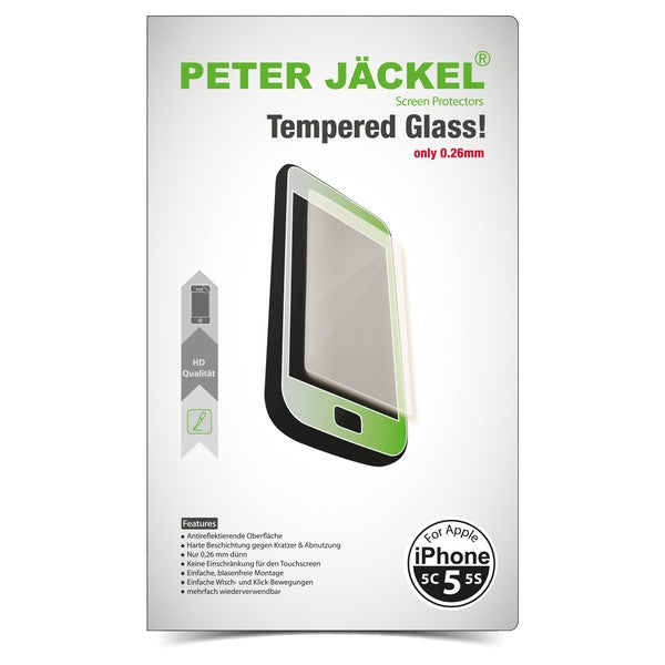 PETER JÄCKEL HD Glass Protector für Apple iPhone 5 / 5C / 5S