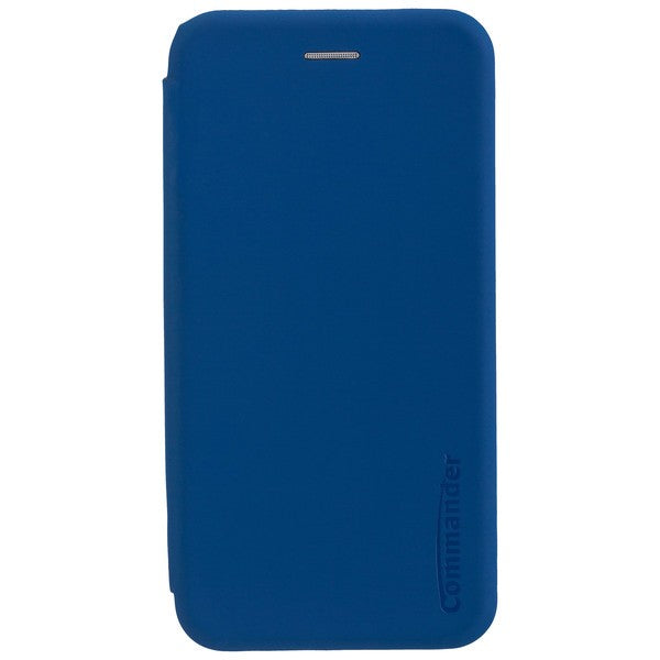 COMMANDER Book Case CURVE für Samsung Galaxy A6+ - Soft Touch - Maritim Blue