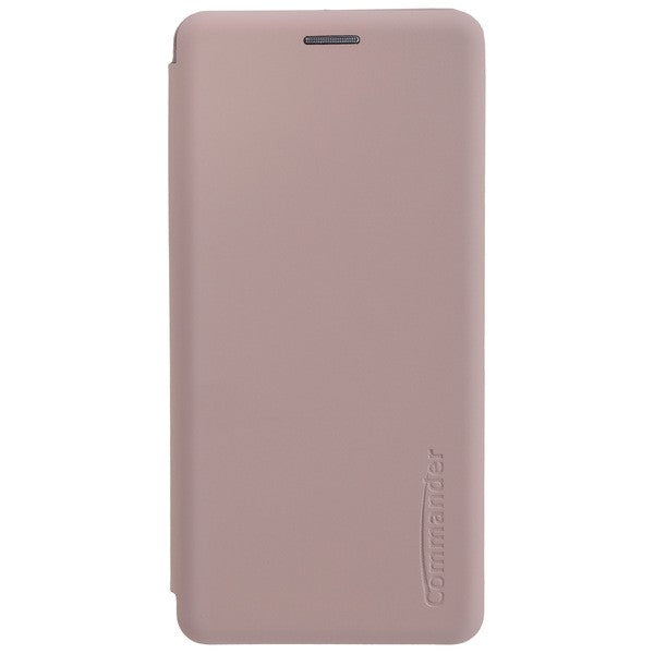 COMMANDER Book Case CURVE für Samsung Galaxy A50 - Soft Touch - Creme Rose