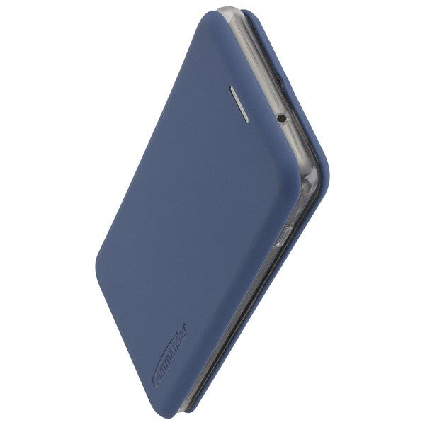 COMMANDER Book Case CURVE für Samsung Galaxy S20 Ultra - Soft Touch Maritim Blue