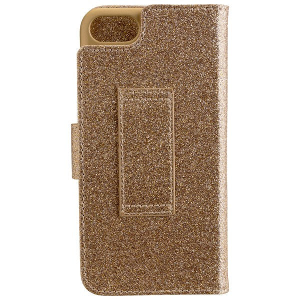 CARPE DIEM Book Case BLING für Apple iPhone 7 / iPhone 8 - Gold