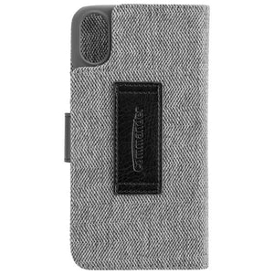COMMANDER BOOK CASE DRESS GREY für Apple iPhone X / XS