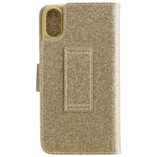 CARPE DIEM Book Case BLING für Apple iPhone X / XS - Gold