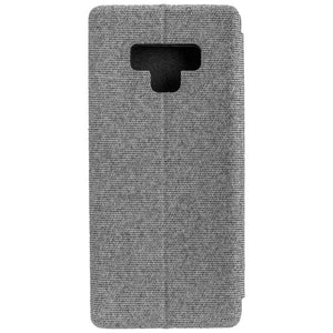 COMMANDER Book Case CURVE für Samsung Galaxy Note 9 - Suit Elegant Gray
