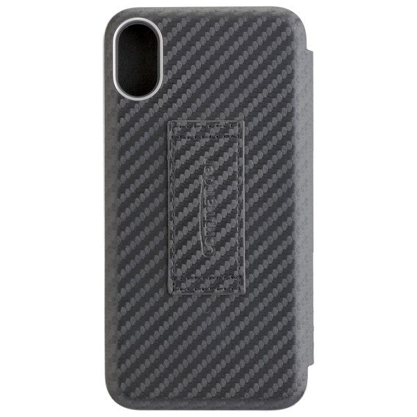 COMMANDER SmartCase NOBLESSE Carbon Style für Apple iPhone X / XS - Black